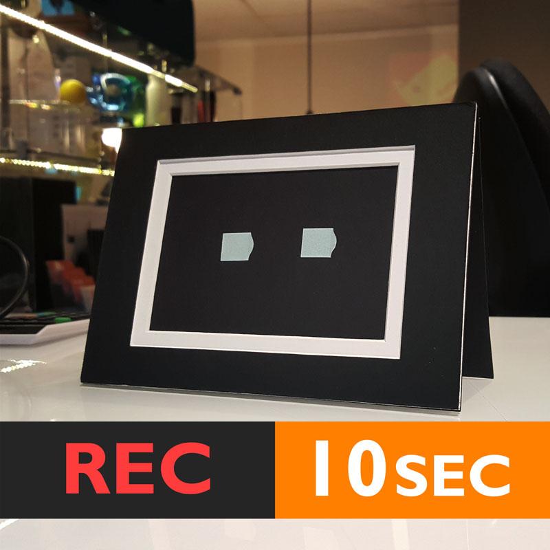 10s PHOTO FRAME CARD (BLACK) RECORD chip sound music voice talk ...